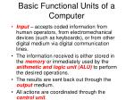basic functional units of a computer