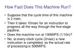 how fast does this machine run