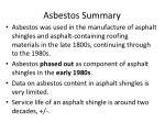 asbestos summary