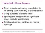 potential ethical issues
