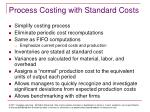process costing with standard costs