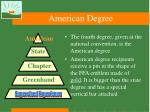 american degree