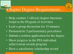 chapter degree requirements9