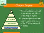 chapter degree