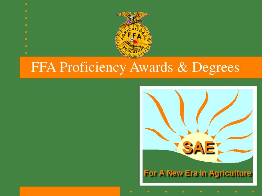 ffa proficiency awards degrees l.