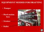 equipment needed for drafting