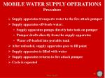 mobile water supply operations procedure