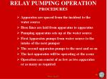 relay pumping operation procedures