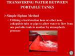 transfering water between portable tanks