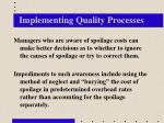 implementing quality processes
