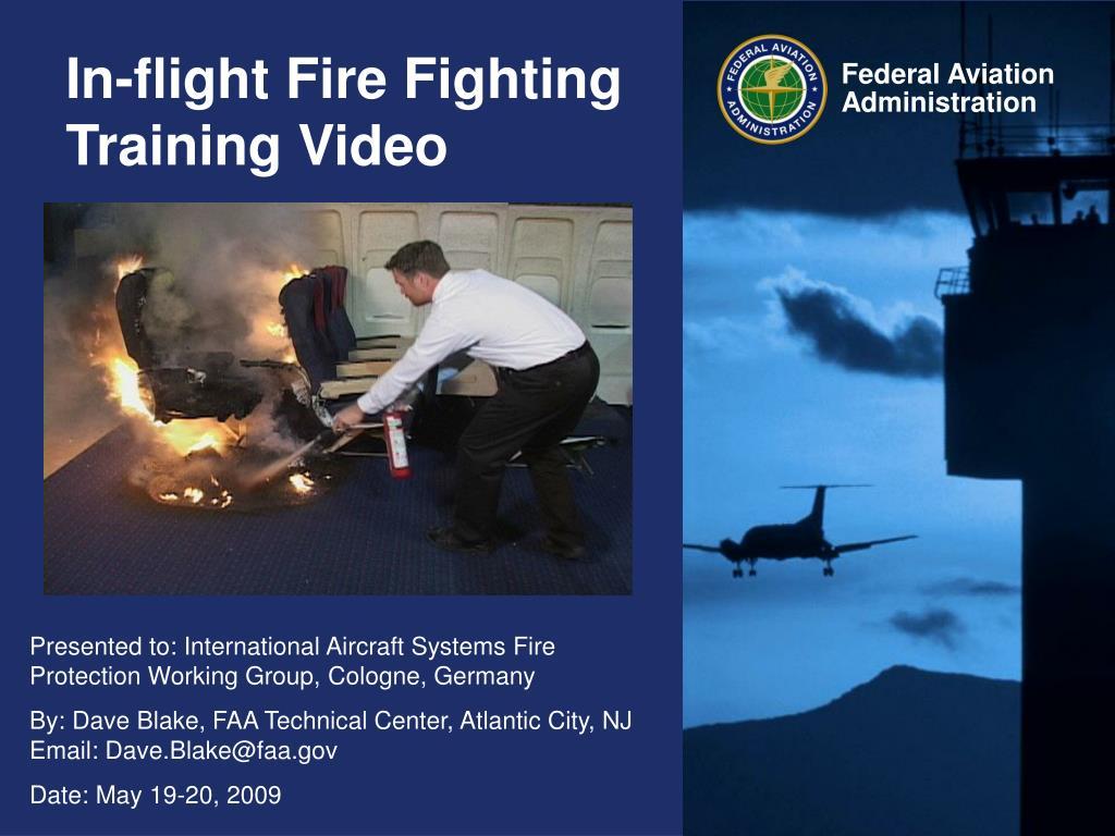 in flight fire fighting training video l.