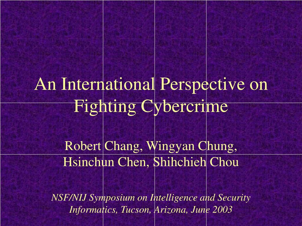 an international perspective on fighting cybercrime l.