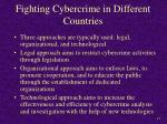 fighting cybercrime in different countries