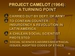 project camelot 1964 a turning point