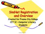 simnet registration and overview
