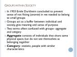 groups within society