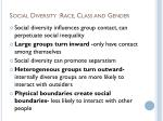 social diversity race class and gender