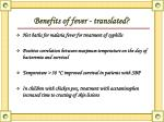 benefits of fever translated