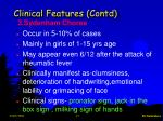 clinical features contd15