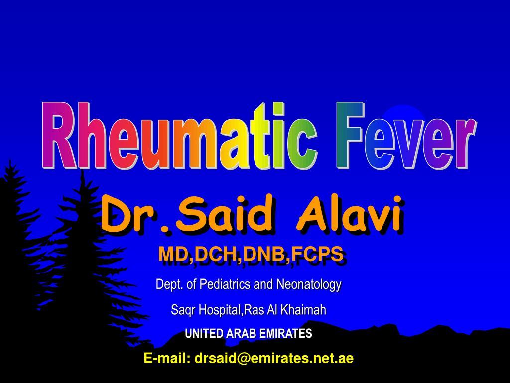 dr said alavi md dch dnb fcps l.