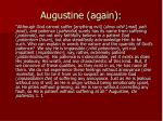 augustine again