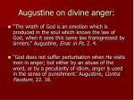 augustine on divine anger
