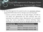 fluid management of dengue fever dengue hemorrhagic fever1
