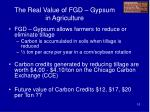 the real value of fgd gypsum in agriculture