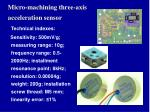 micro machining three axis acceleration sensor