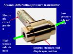 second differential pressure transmitter