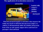 the application of acceleration sensors in automobile