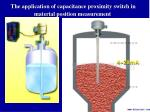 the application of capacitance proximity switch in material position measurement