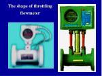the shape of throttling flowmeter