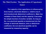 the third section the application of capacitance sensor
