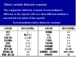 third variable dielectric constant