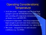 operating considerations temperature14