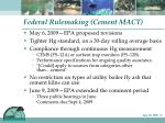 federal rulemaking cement mact
