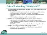 federal rulemaking utility mact
