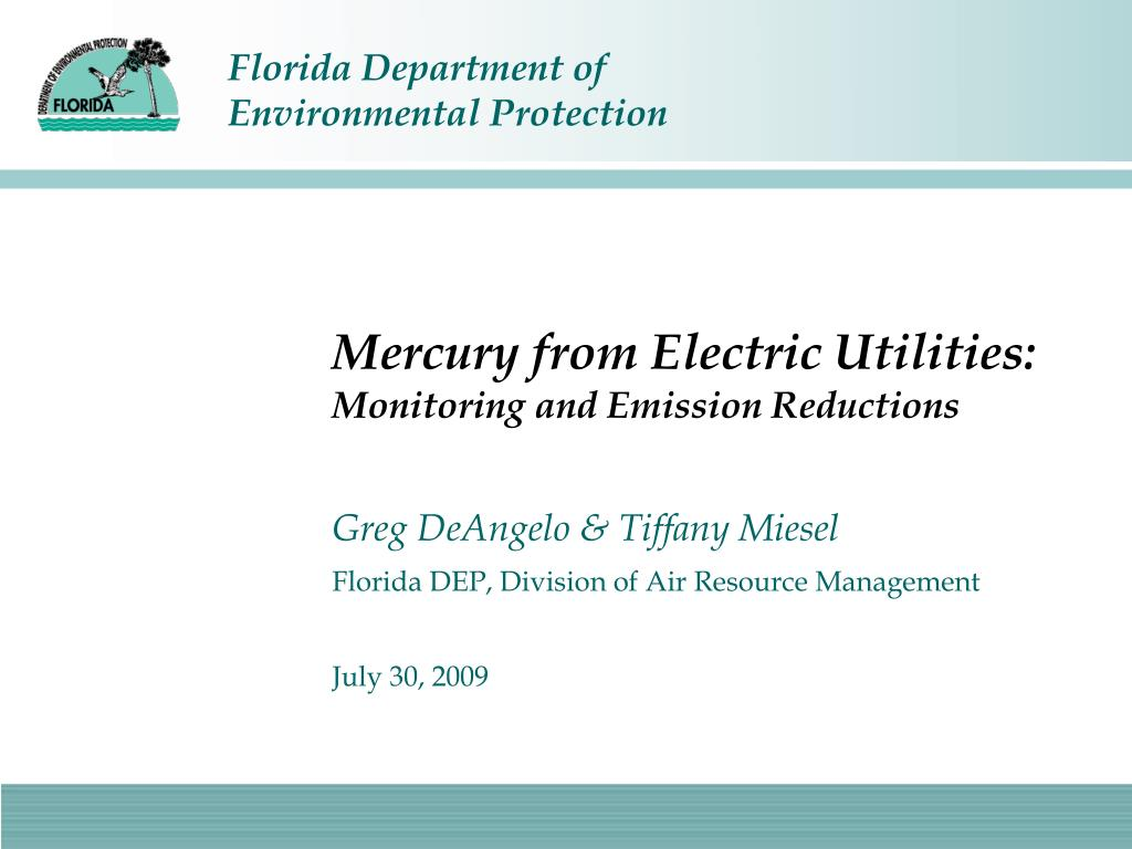 mercury from electric utilities monitoring and emission reductions l.