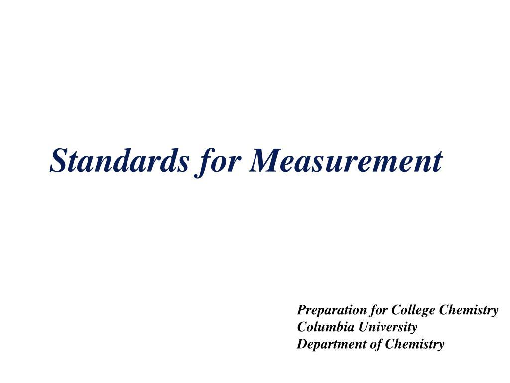 standards for measurement l.