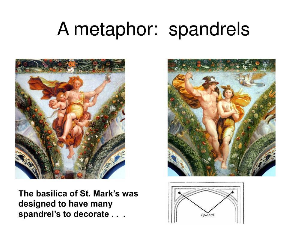 A metaphor:  spandrels