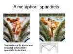 a metaphor spandrels