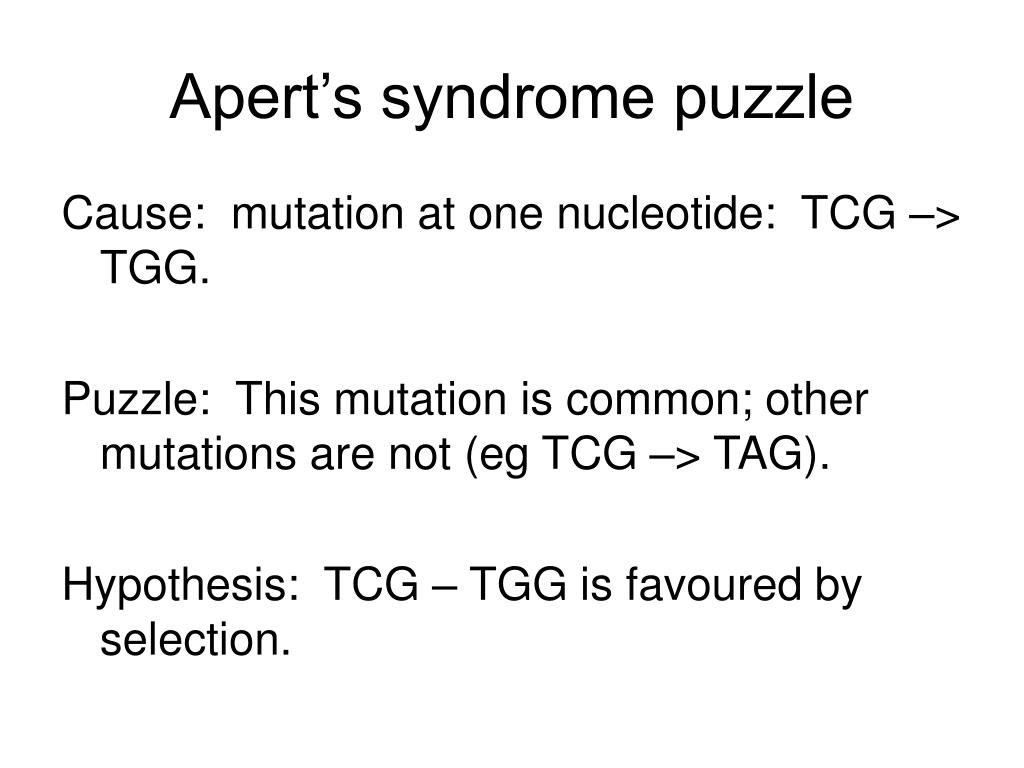 Apert's syndrome puzzle