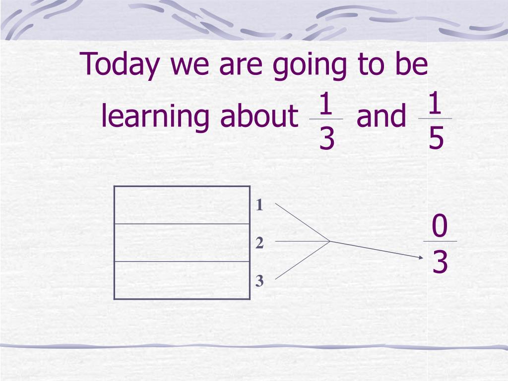 today we are going to be learning about and l.