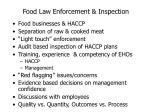 food law enforcement inspection