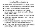 results of investigations