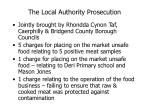 the local authority prosecution