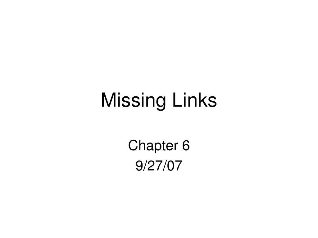 missing links l.