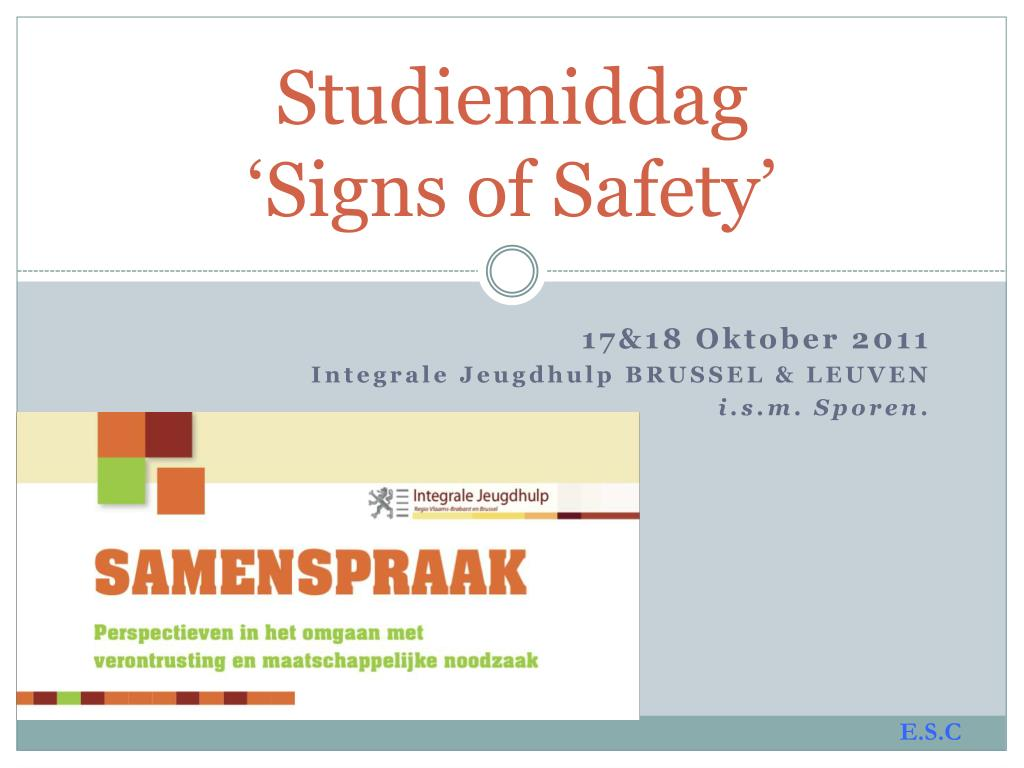 studiemiddag signs of safety l.