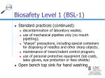 biosafety level 1 bsl 111